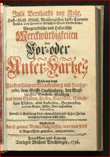 1736-von-rohr-titel-merkwürdigkeiten-unterharz