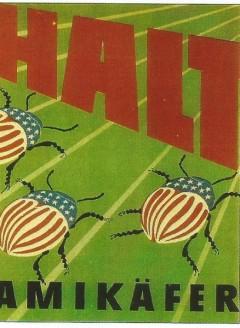 plakat halt dem amikaefer um 1950